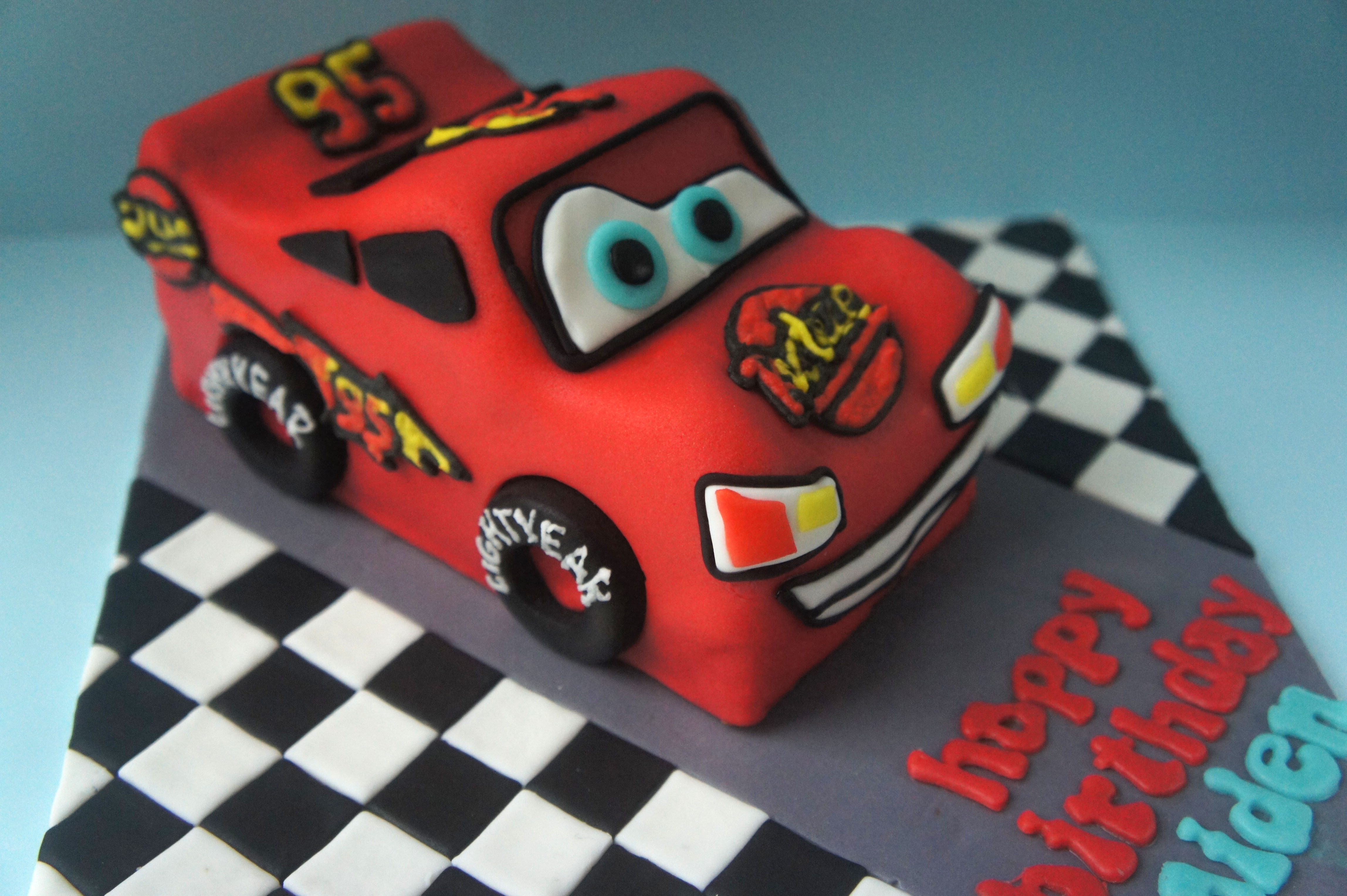 Superb How To Make Lightning Mcqueen A Spoonful Of Cake Funny Birthday Cards Online Overcheapnameinfo